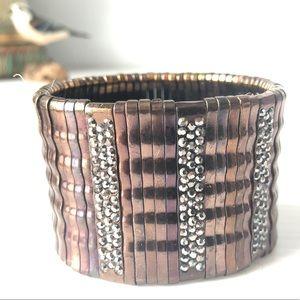 🌻 Copper tones Wide Stretch Bracelet